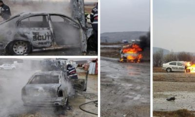 colaj incendiu masina scutul negru