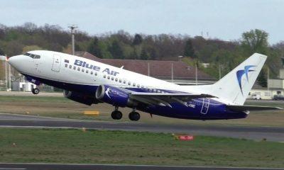 avion blue air decolare