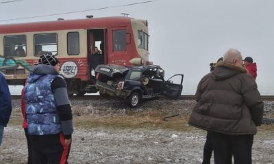 accident tren arad